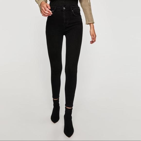NWT Zara black high waisted super skinny jeans 1fef9eddf
